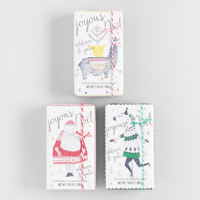 A&G Whimsical Holiday Bar Soap Collection
