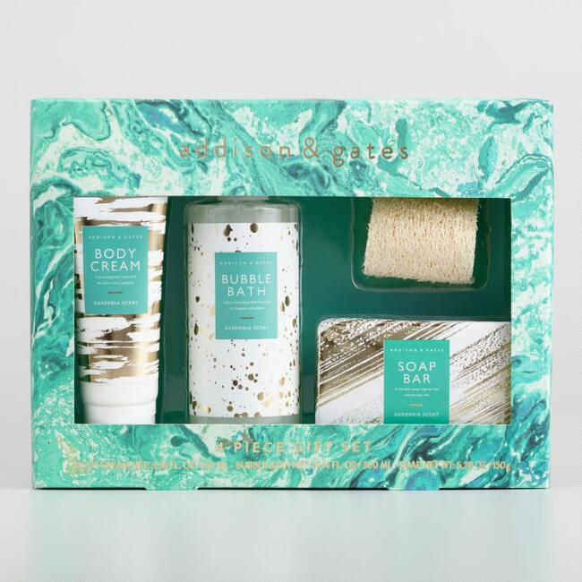 A&G Marble Gardenia Luxury Bath Gift Set