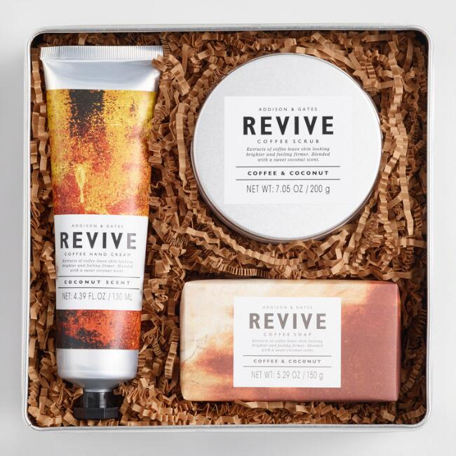 A&G Revive Bath and Body 3 Piece Tin Gift Set