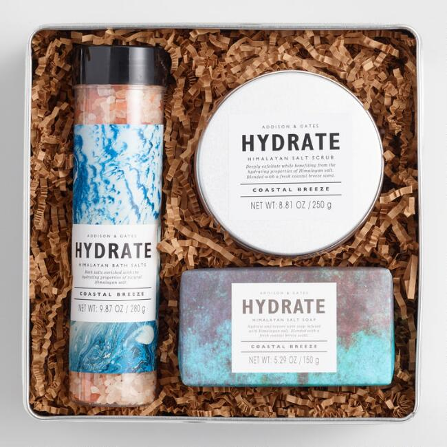 A&G Hydrate Bath and Body 3 Piece Tin Gift Set