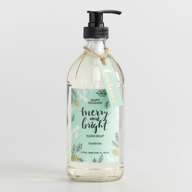Happy Holidays Merry and Bright Gardenia Hand Soap