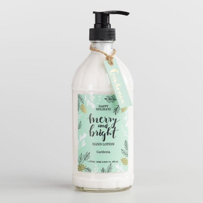 Happy Holidays Merry and Bright Gardenia Hand Lotion