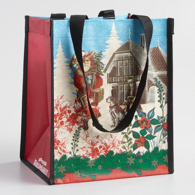 Small Christmas in Europe Tote Bags Set of 2