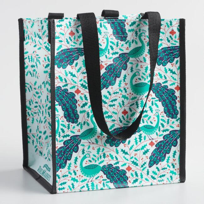 Small Jolly Peacocks Tote Bags Set of 2