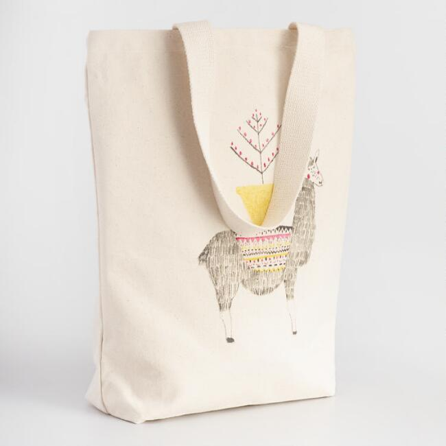 Jolly Llama Canvas Tote Bag