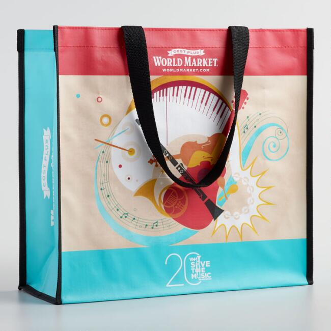 Small Save the Music Tote Bag