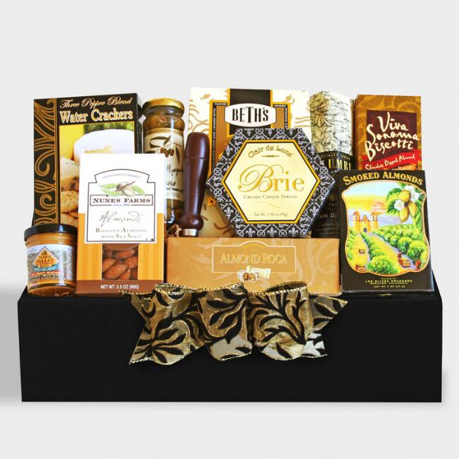 Classic Salami and Cheese Gourmet Gift Basket