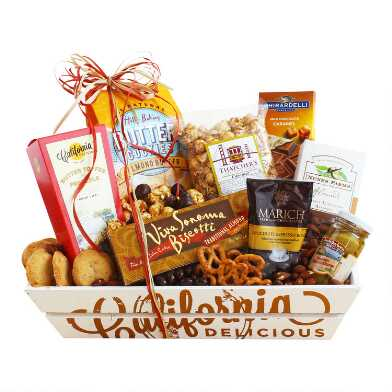California Sweet and Salty Sampler Gift Basket