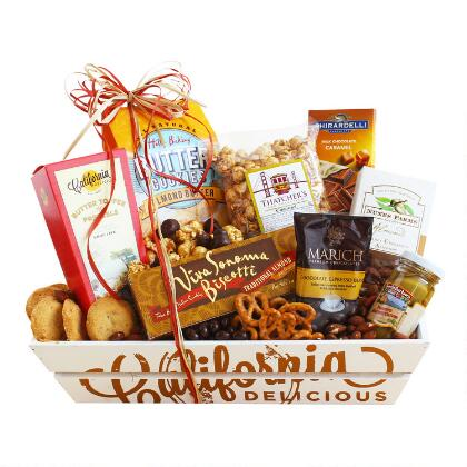 Create your own gift baskets basket kits world market california sweet and salty sampler gift basket negle Images