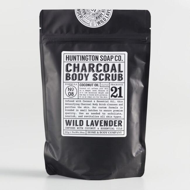 Huntington Wild Lavender Charcoal Body Scrub
