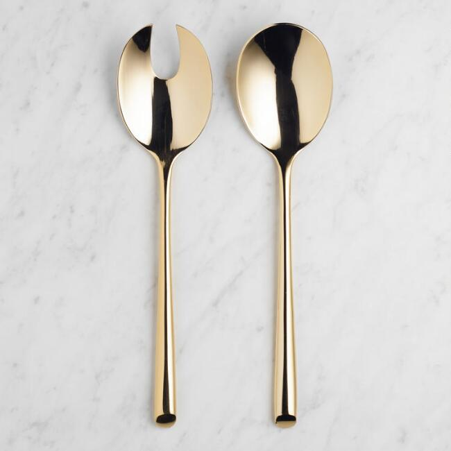 Gold Wave Serving Set