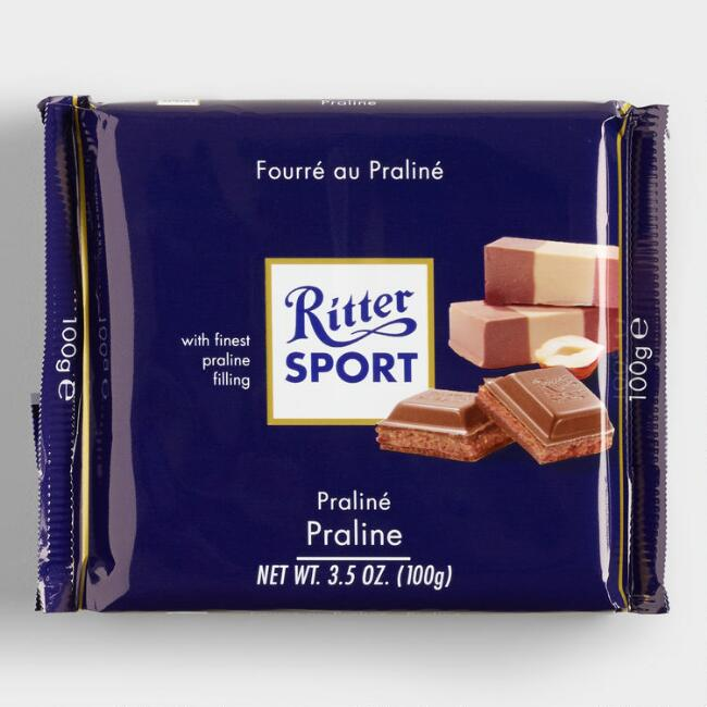 Ritter Sport Milk Chocolate with Praline Set of 13