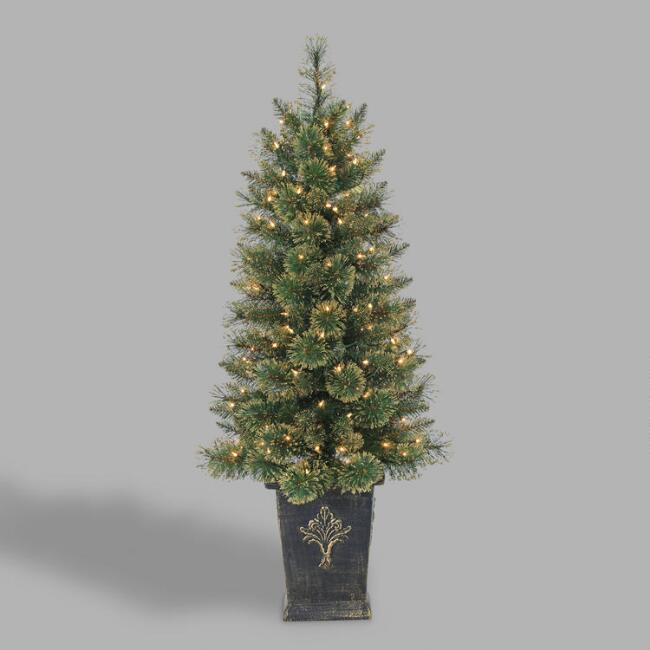 Potted Faux Cashmere Pine Tree