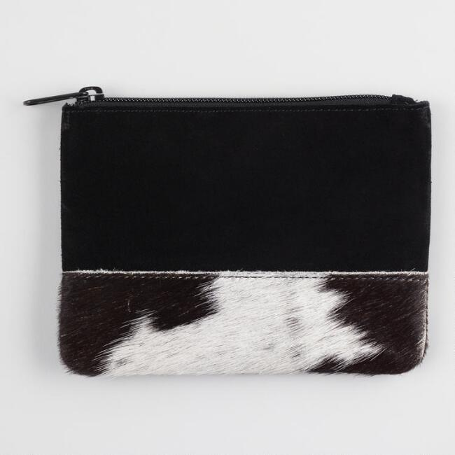 Black Suede and Pony Hair Pouch