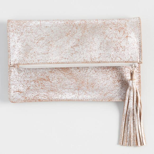 Champagne Leather Pouch