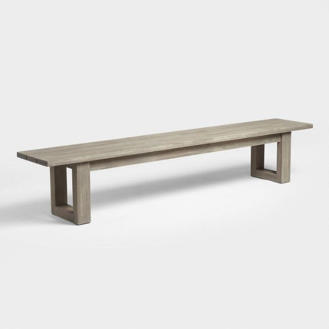 Gray San Sebastian Outdoor Dining Bench