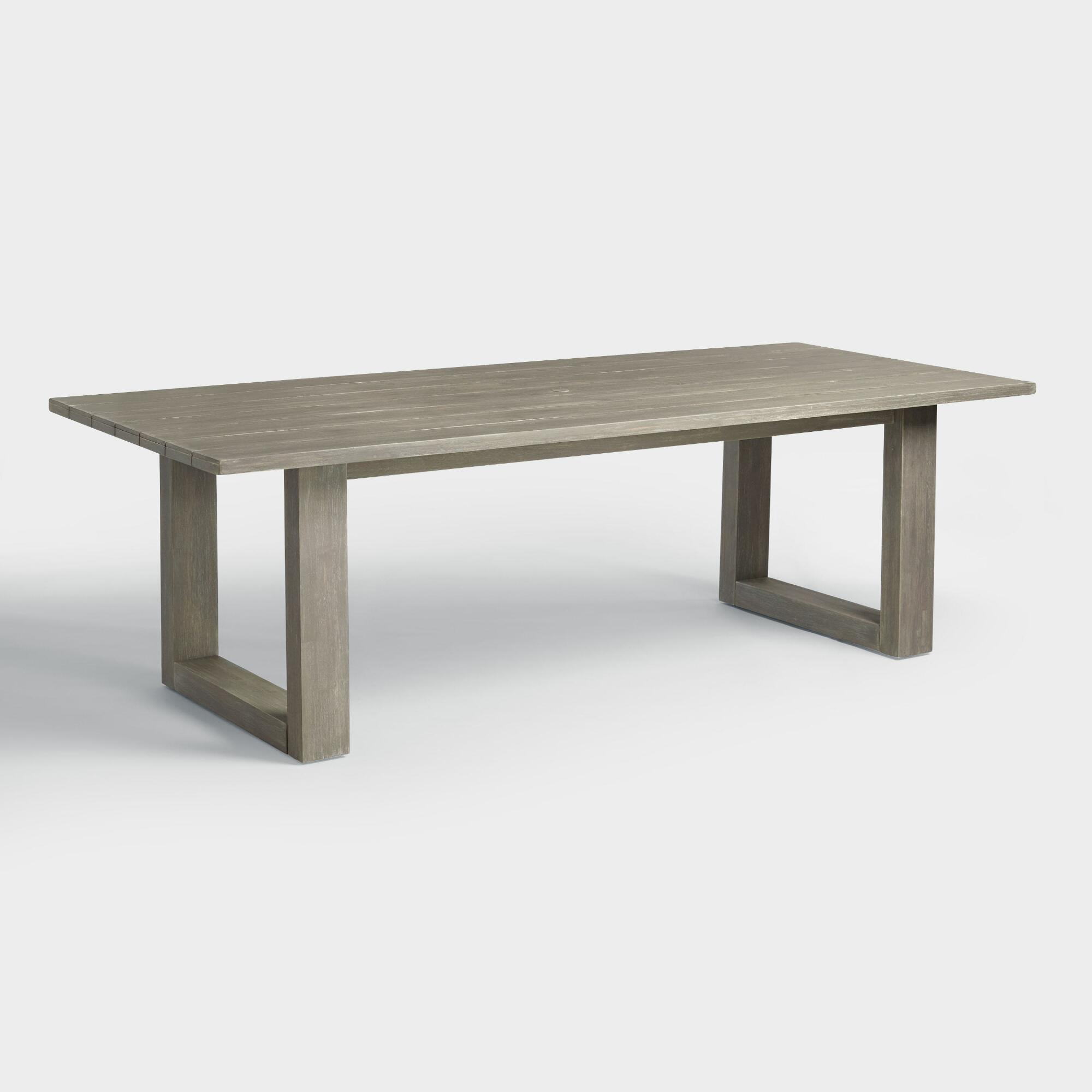Gray san sebastian outdoor dining table world market