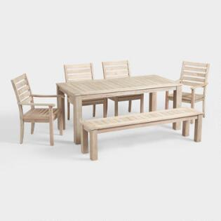 Outdoor Dining Furniture and Wood Table Sets | World Market