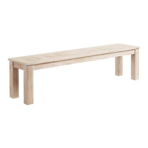 Whitewash Sevilla Outdoor Dining Bench