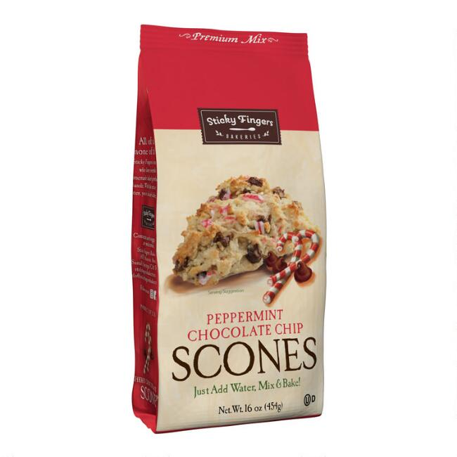 Sticky Fingers Bakeries Mint Chocolate Scone Mix, Set of 6