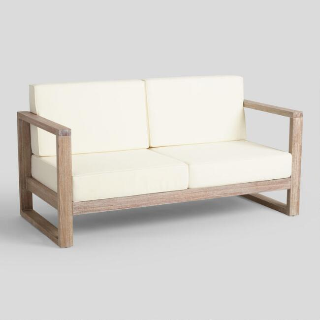 Whitewash Sevilla Outdoor Occasional Bench