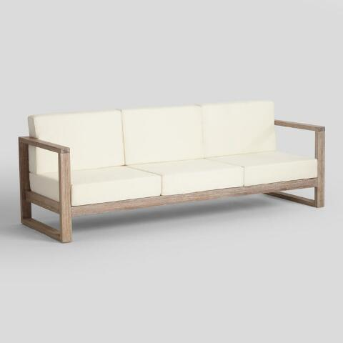 Whitewash Sevilla Outdoor Occasional 3 Seater Bench