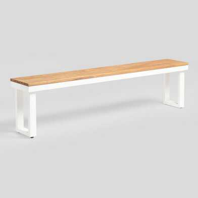 Antique White Avignon Outdoor Dining Bench