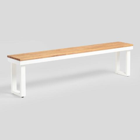 Swell Antique White Avignon Outdoor Dining Bench Pabps2019 Chair Design Images Pabps2019Com
