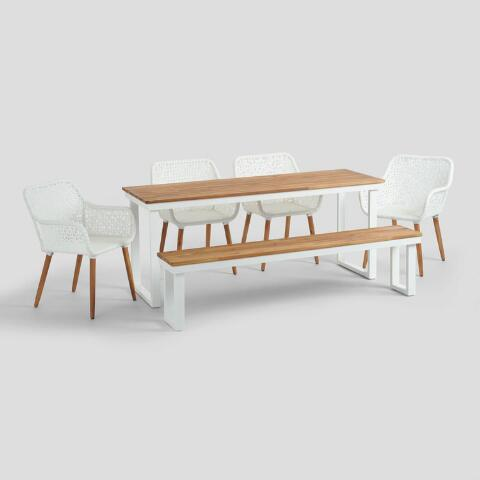 Peachy Antique White Avignon Outdoor Dining Bench Andrewgaddart Wooden Chair Designs For Living Room Andrewgaddartcom