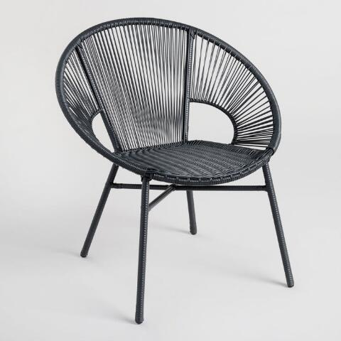 Round Black All Weather Wicker Camden Outdoor Chair Previous V7 V1
