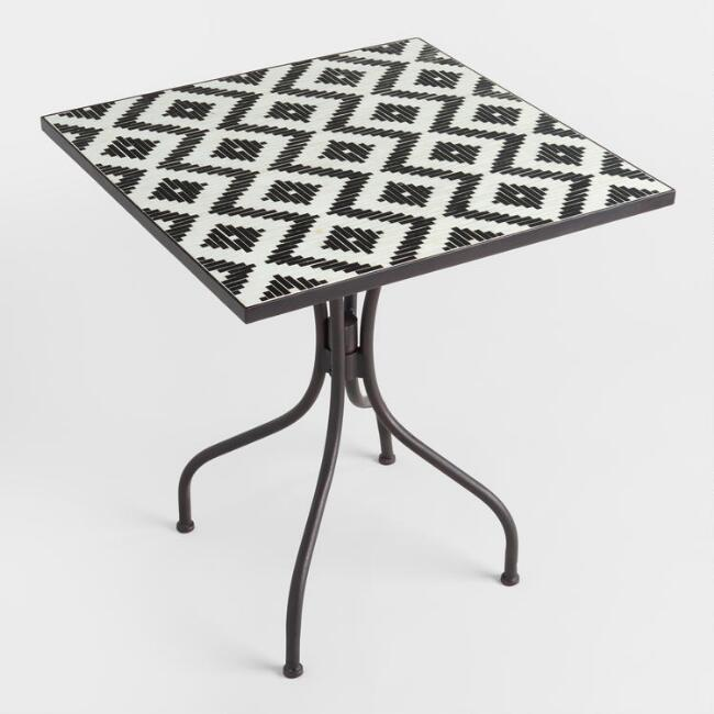 Black and White Cadiz Outdoor Bistro Table