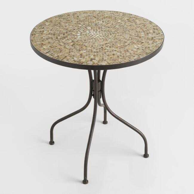 Round Tortoise Cadiz Outdoor Bistro Table