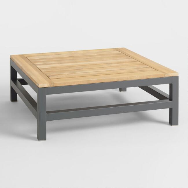 Gray Wood and Metal Alicante Outdoor Occasional Coffee Table