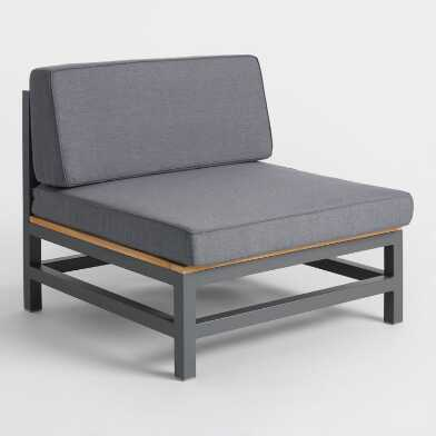 Gray Wood and Metal Alicante Outdoor Occasional Chair