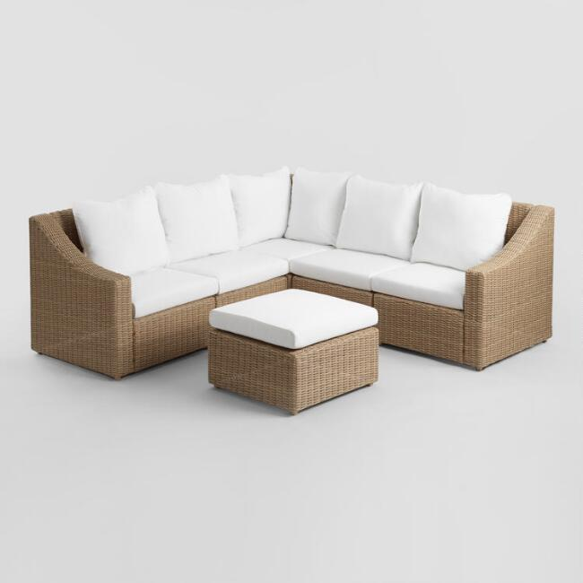 Natural All Weather Veracruz Outdoor Sectional Collection