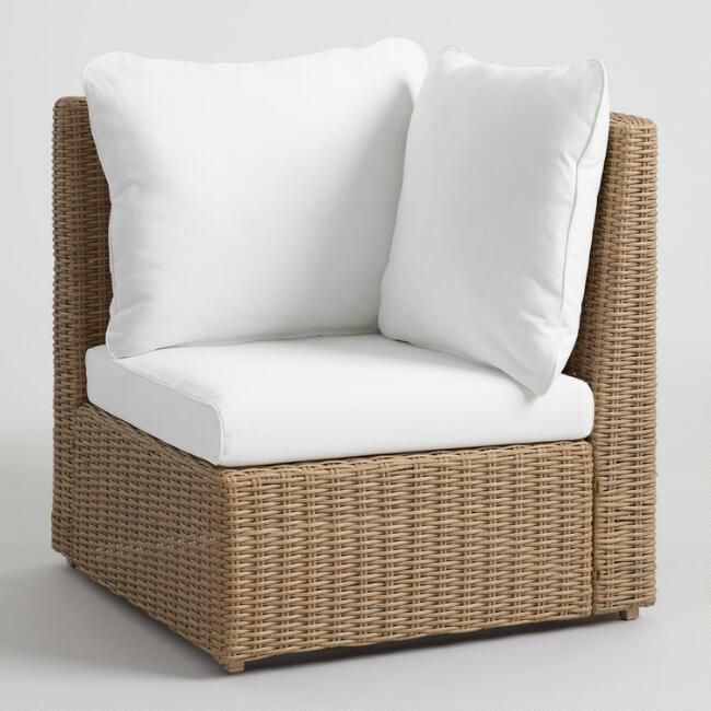 Natural All Weather Veracruz Outdoor Sectional Corner Chair
