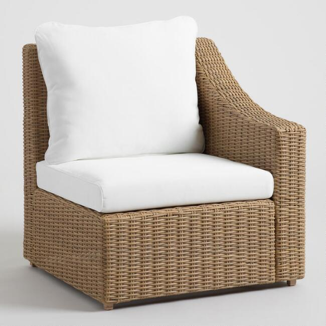 Natural All Weather Veracruz Outdoor Sectional Left Chair