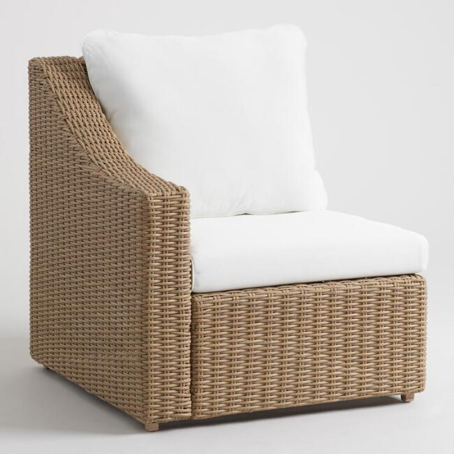 Natural All Weather Veracruz Outdoor Sectional Right Chair