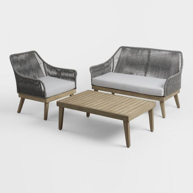 Gray Rapallo Outdoor Occasional Collection