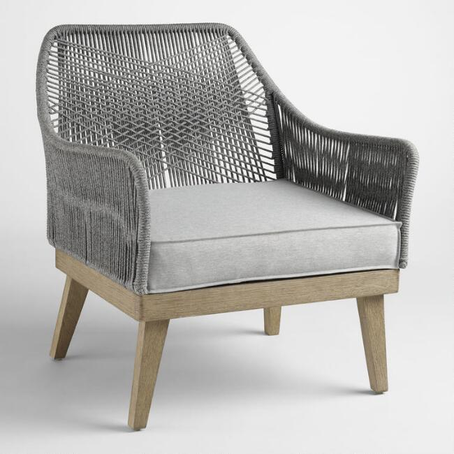Gray Rapallo Outdoor Occasional Chair
