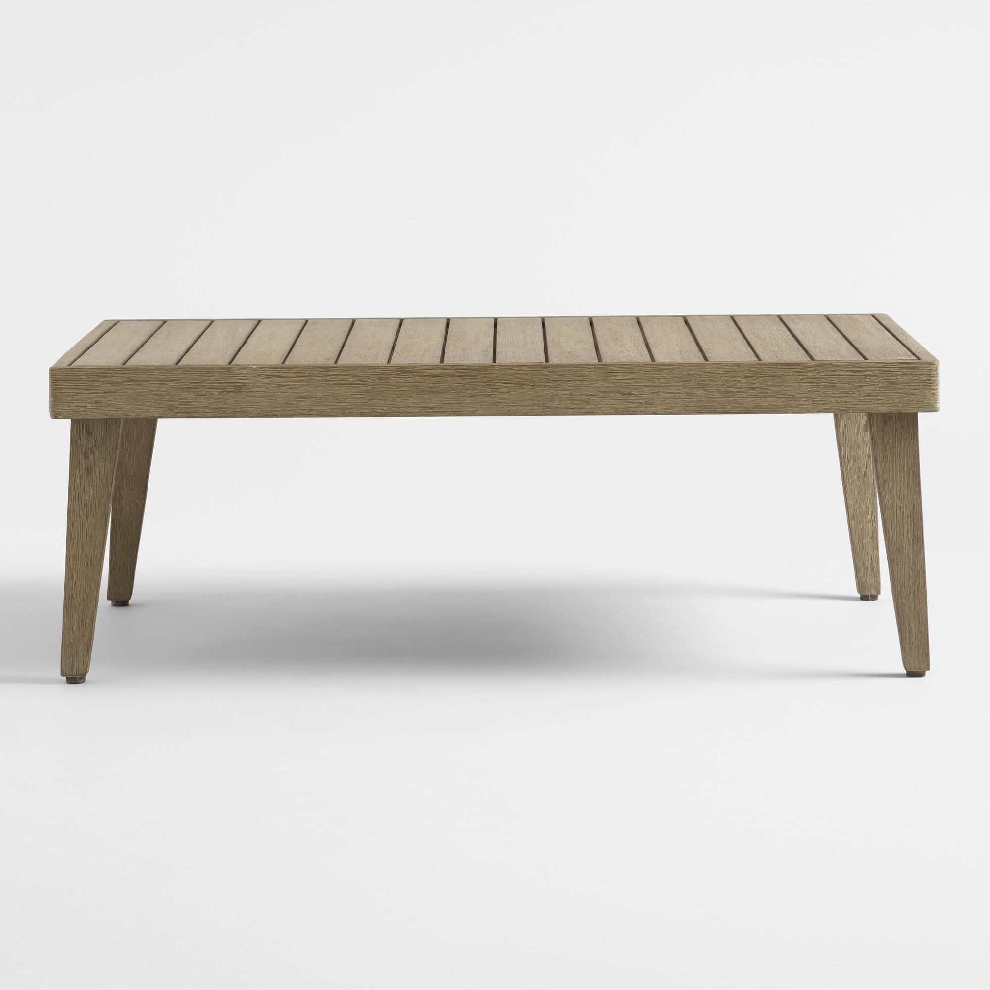 Gray rapallo outdoor occasional coffee table world market