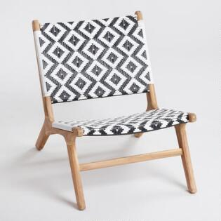 Wood Praiano Outdoor Occasional Chair World Market