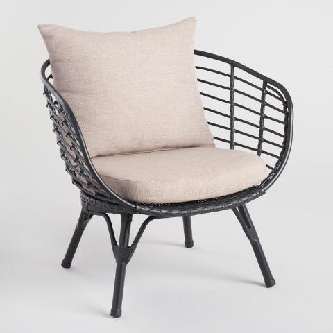 Black All Weather Wicker Negril Outdoor Occasional Chair Previous V7 V1