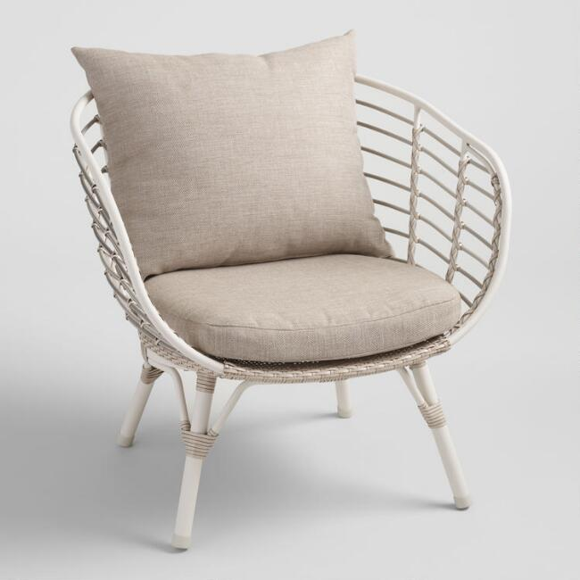 Cream All Weather Wicker Negril Outdoor Occasional Chair