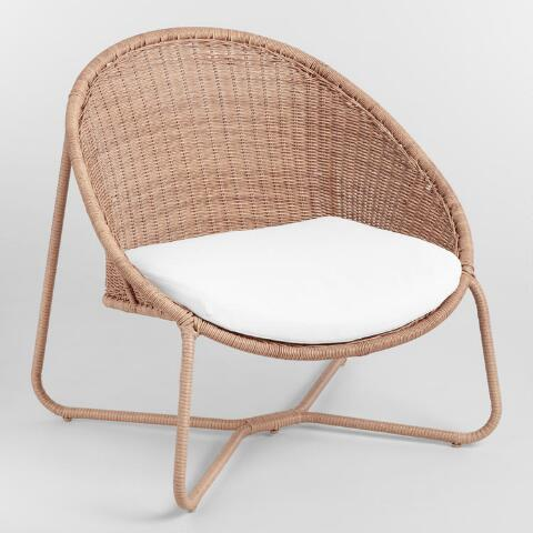 Natural All Weather Wicker Samoa Outdoor Egg Chair World Market
