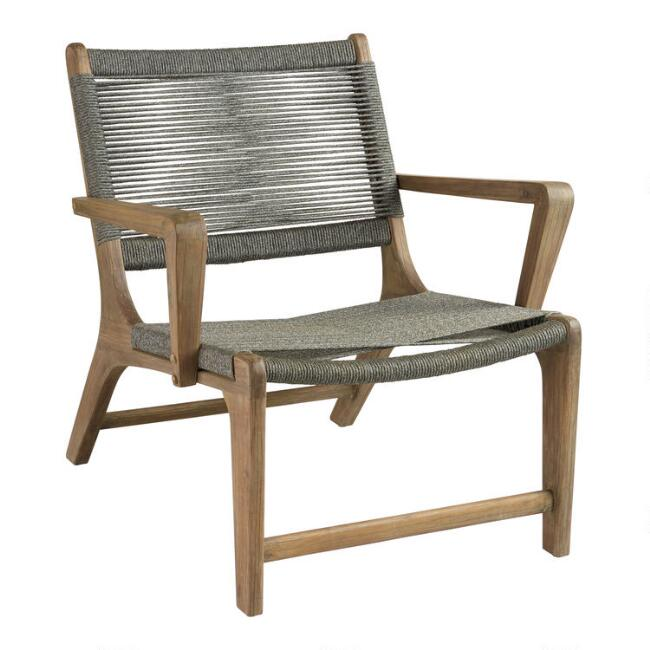 Gray Rapallo Outdoor Lounge Chair