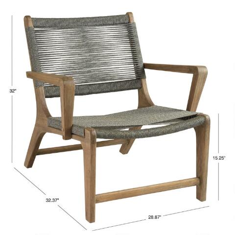 gray rapallo outdoor lounge chair world market. Black Bedroom Furniture Sets. Home Design Ideas