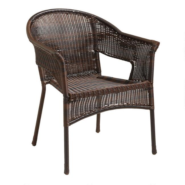 Natural All Weather Wicker Outdoor Tub Chair Set of 2