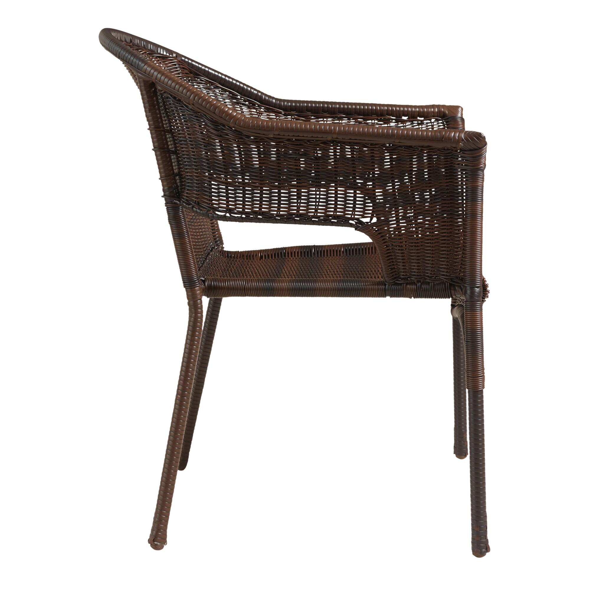 Natural all weather wicker outdoor tub chair set of 2 world market