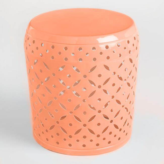 Coral Samara Outdoor Stool